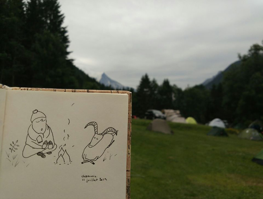 sketchbook Chamonix