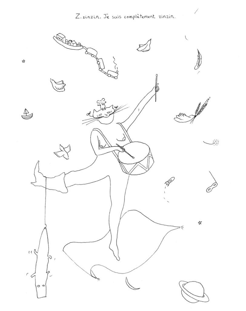 illustration trait fin