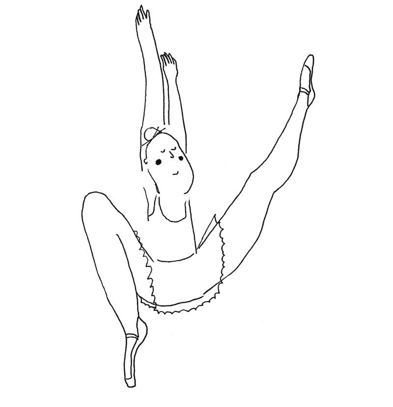 illustration ballerine