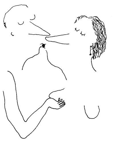illustration baiser
