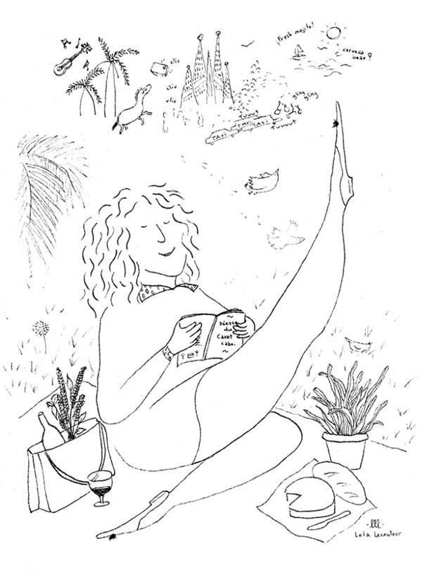 illustration femme française