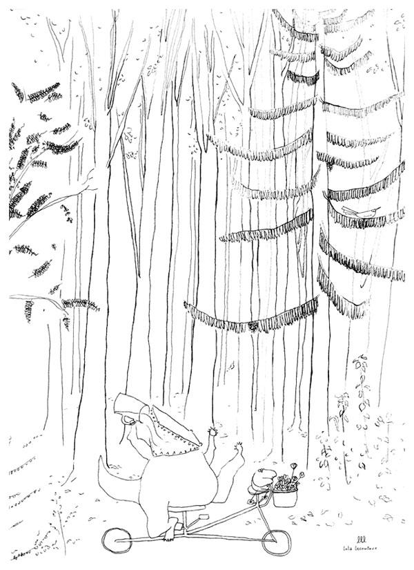illustration personnages forêt